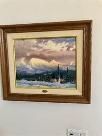 """Lingering Dusk"" by Thomas Kinkade, The Archive Collection"