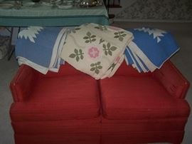 THE OTHER LOVE SEAT & MORE OLD QUILTS