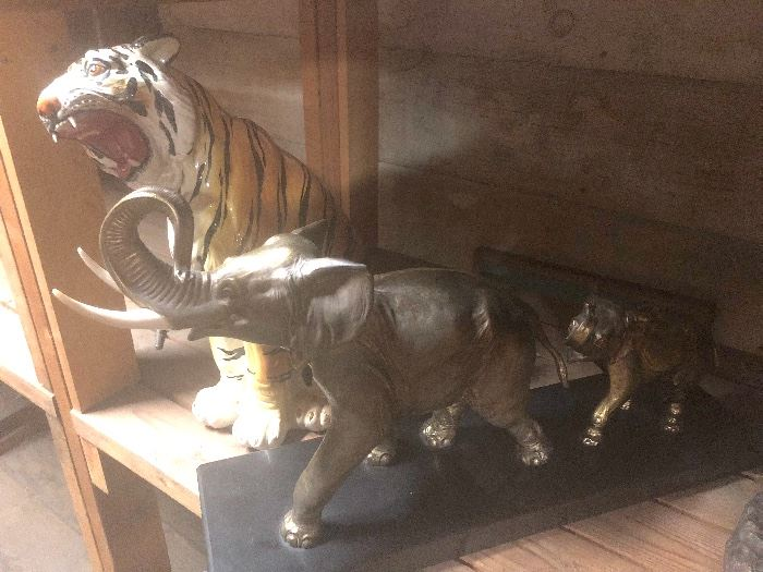 Huge Elephant Collection & Other Lg Ceramics: Tiger