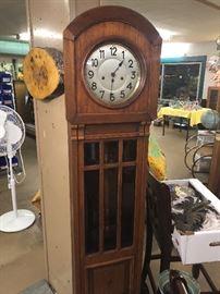 floor clock arts & crafts/beveled glass sounds nice