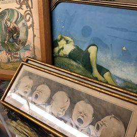 vintage prints framed