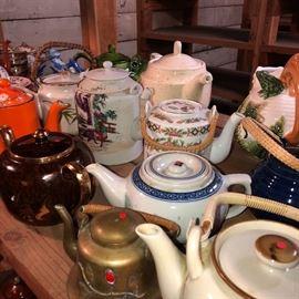 collection tea pots....fun to collectible