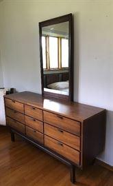 Mid-Century Dresser & Mirror