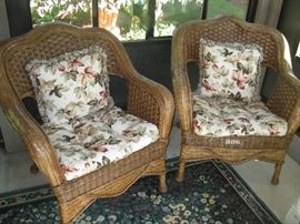 Wicker Style Lawn Chairs