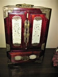Oriental White Jade Jewelry Chest
