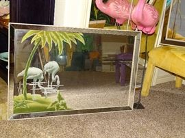 Mid-Century Turner Flamingo Mirror