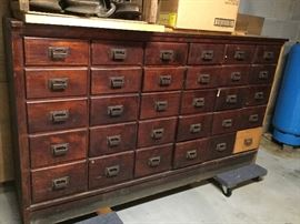 Michigan Drug Co out of Detroit Mi Apothecary 30 drawer cabinet