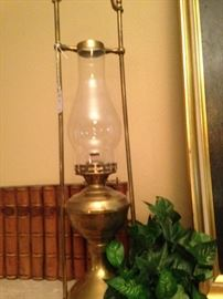 One of two antique lanterns