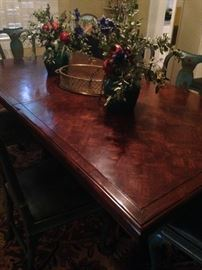 Provincial parquet-patterned dining table