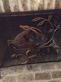 Gazelle fireplace screen