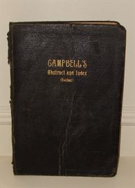 1915' CAMPBELL'S ABSTRACT AND INDEX (INDIAN)
