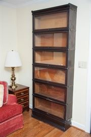 7 stack Barrister bookcase, 6 showing.