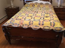 Hand mad Wedding Ring Quilt