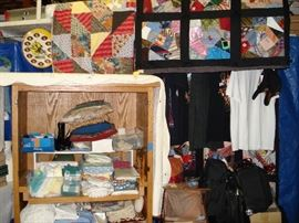 Hand Make quilts, linens, Harley and Coca-cola        t-shirts, luggage
