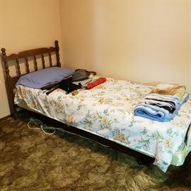 Flex a bed adjustable massage twin bed w/remote
