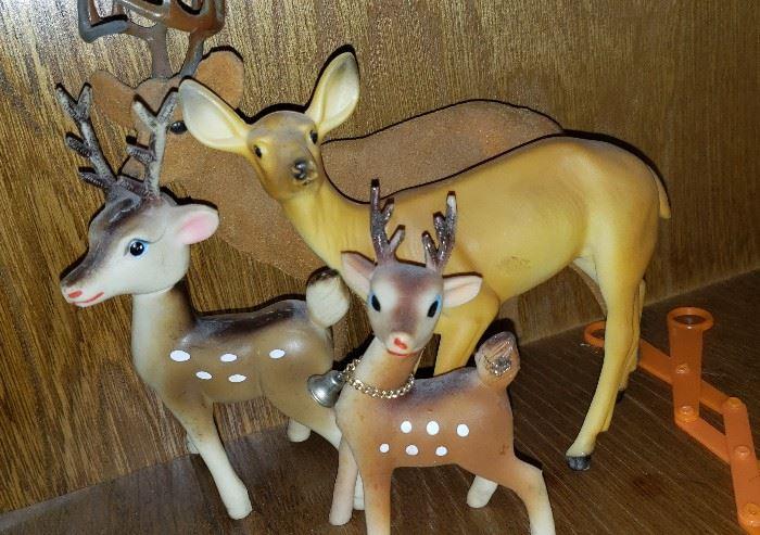deer christmas vintage
