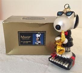 Komozja hand blown Snoopy ornament