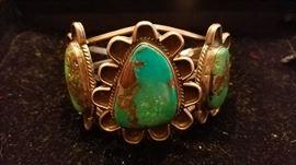 Early pawn turquoise bracelet