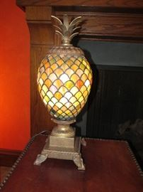 Beautiful stained glass pineapple lamp