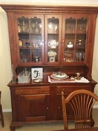 Pennsylvania House Cherry Dining room set. Table, eight chairs, Buffet and china cabinet (Sold seperately)