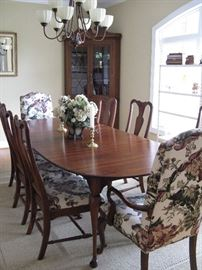 Lexington Cherry Dining Table & Eight Chairs