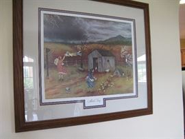 Queena Stovall 'March Fury' Signed and Beautifully Framed Print
