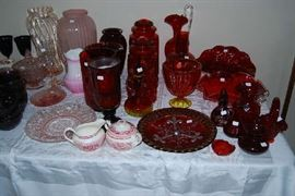 GLASSWARE - MANY ITEMS STILL AVAILABLE FOR SATURDAY PURCHASE