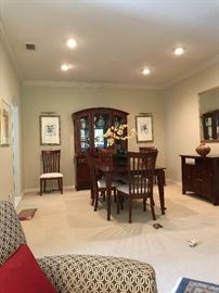 beautiful dining room set with china cabinet and matching side board