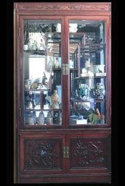 bab Asian Dragon Lighted Curio Cabinet