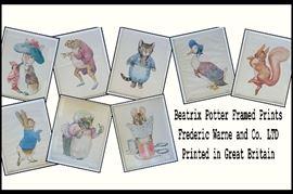 bab Beatrix Potter Framed Vintage Prints 1960s