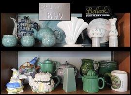 bab Ceramics includingTeapots Red Wing no 892 and Belleek
