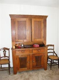 Antique Hutch, 4 door, 2 drawer.