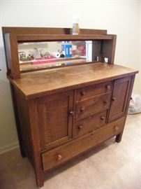 Antique arts & crafts era sideboard.
