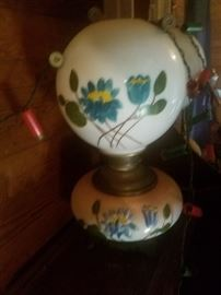 hand painted GWTW lamp