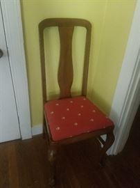 Queen Anne chair, set of 6