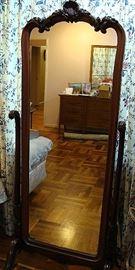 Large vintage chevel mirror