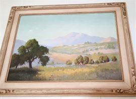 Vintage plein air painting
