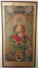 Antique Tibetian ancestors portrait