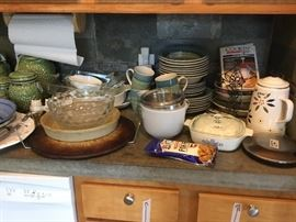 Kitchen: Corning Ware, dishes and so much more!