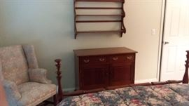 Stickley dresser and shelf