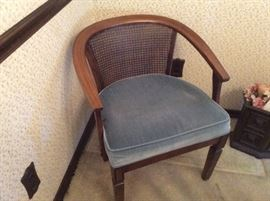 mid century wicker back occasional chair