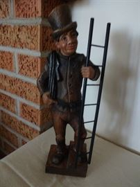 Hand carved Chimney Sweep