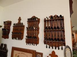 Collector souvenir spoons