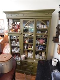 Painted green cabinet