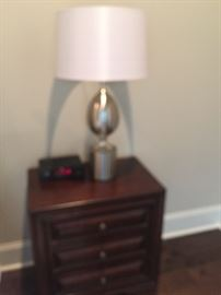 night stand number one and lamp