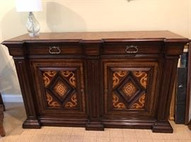Magnificently designed Console where storage is beautiful and plentiful!