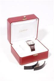 Cartier Watch Santos Dumount White Gold Wristwatch
