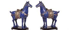 A Matched Pair Palace SIze Lapiz Horses Retail $90,000