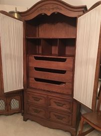 Inside of Hickory Armoire