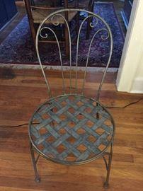 Art Deco Metal Chair